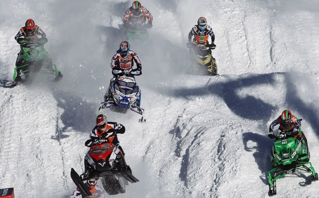 sleds in action