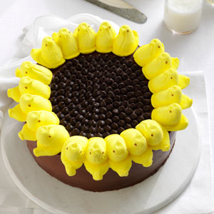 Taste of Home Peeps Sunflower Cake
