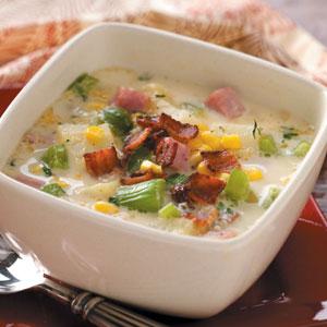 Taste of Home's Ham and Corn Chowder