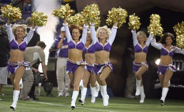 Minnesota Viking Cheerleaders Running