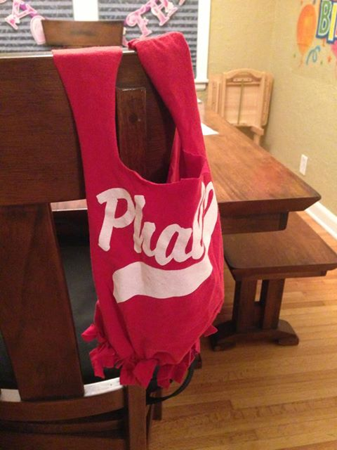 DIY t-shirt halloween treat bag