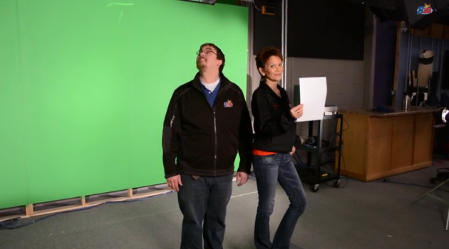 ken and cathy behind the scenes pic