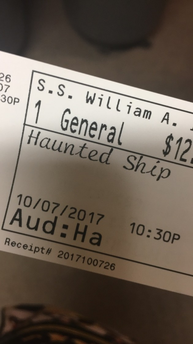 ticket to Haunted Ship