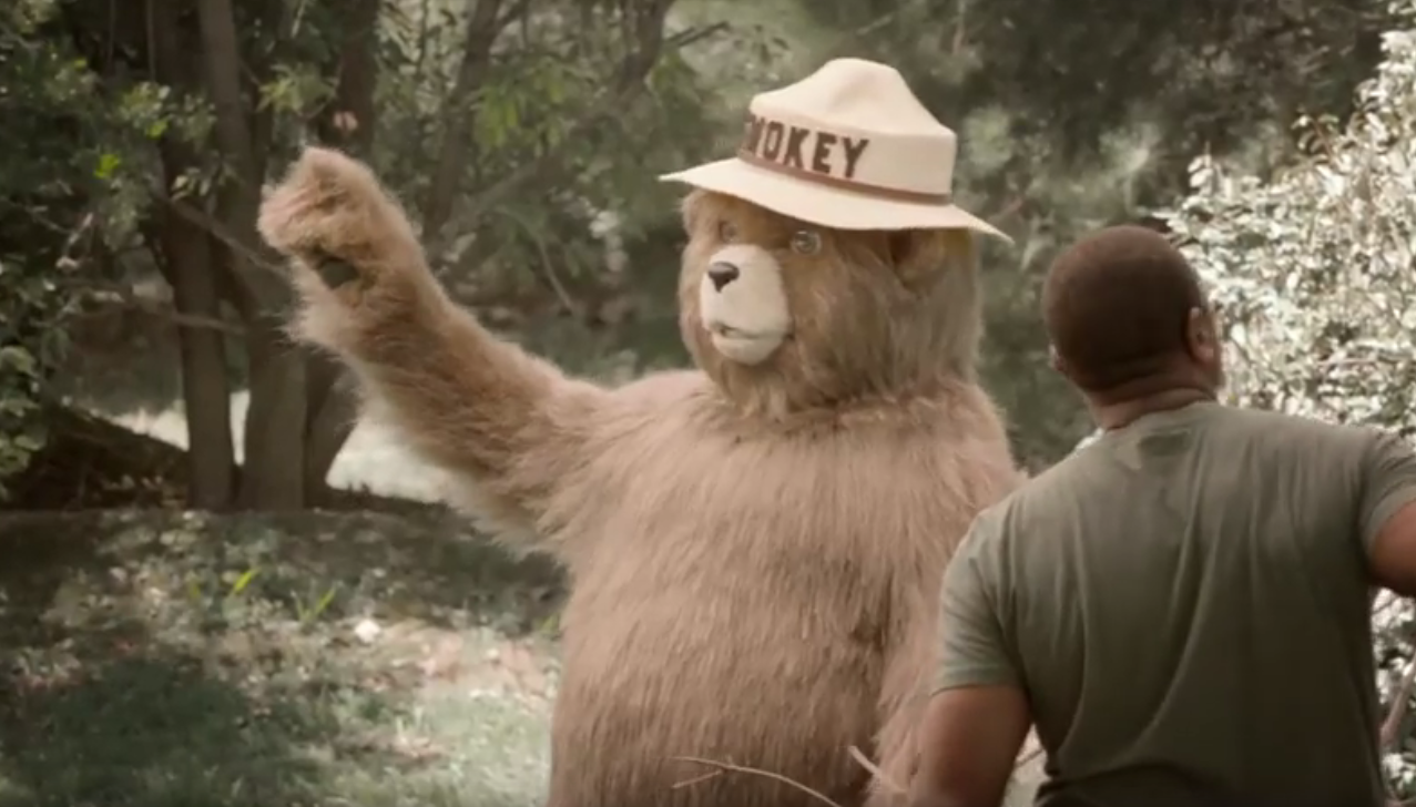 smokey bear psa is unique a little bizarre and kinda funny